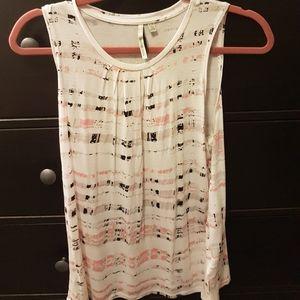 White Calvin Klein sleeveless shirt